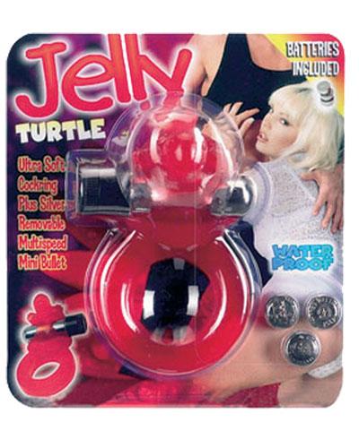 Эрекционное кольцо – Jelly Turtle Cockring Red