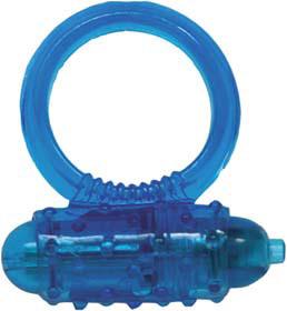 Эрекционное кольцо – Silicone Soft Cock-Ring blue m. Vibr.