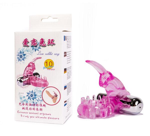 Эрекционное кольцо – Cock Ring 1, with Bullet vibrator, Pink