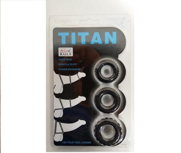 Эрекционные кольца – TITAN cock ring set blue