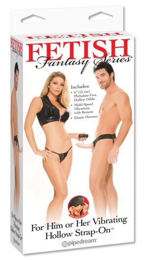 Страпон – Fetish Fantasy Series For Him or Her Vibrating Hollow Strap-On