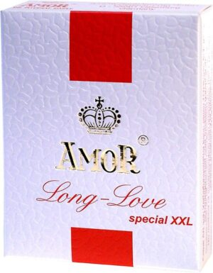 Презервативы – Amor Long Love, nawilżane, XXL 3шт