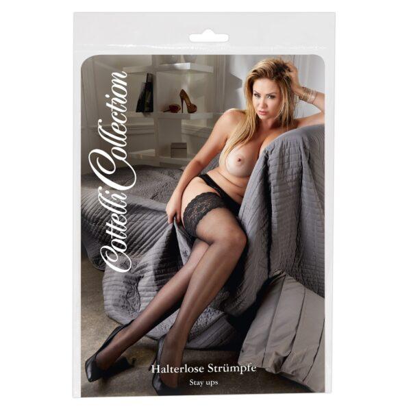 Чулки – Hold-Up Stockings, черные 6