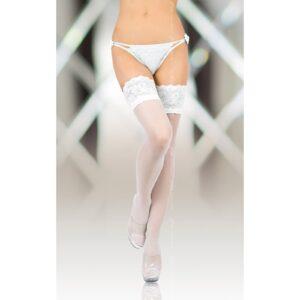 Чулки – Stockings 5508, Plus Size, white