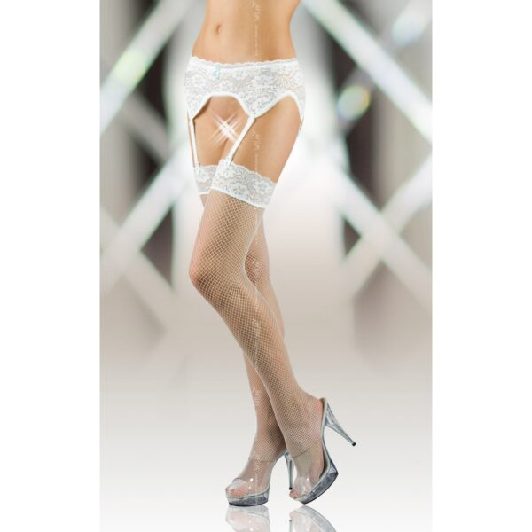 Чулки – Stockings 5522, белые 4