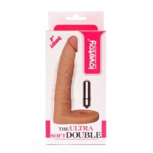 Насадка для двойного проникновения – The Ultra Soft Double Sleeve 6″ Vibro Flesh