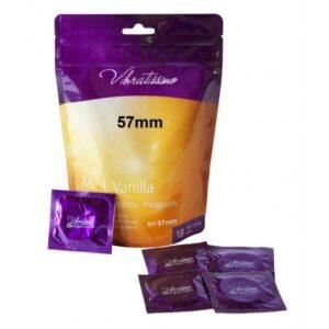 Презервативы – Vibratissimo XX…L Vanilla, 57 мм, 18шт