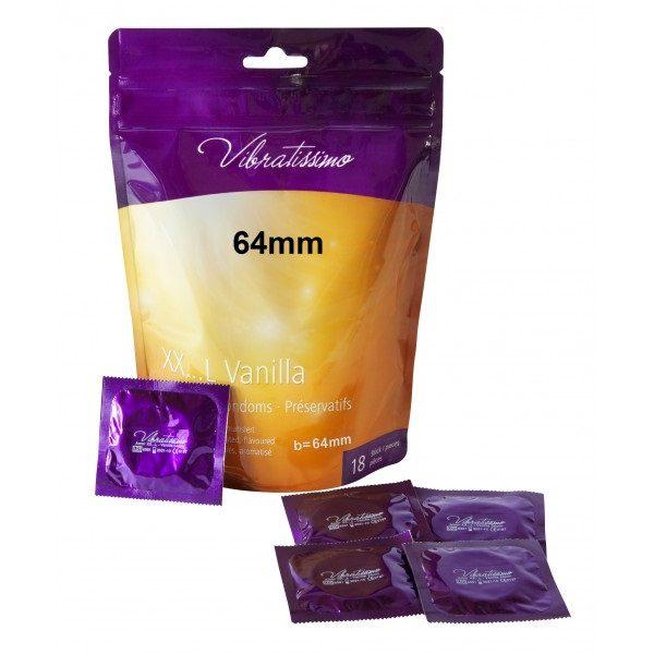 Презервативы – Vibratissimo XX…L Vanilla, 64 мм, 18шт