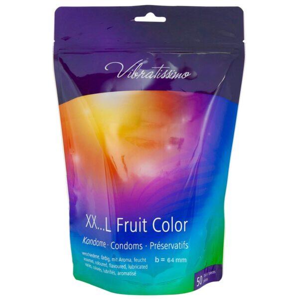 Презервативы – Vibratissimo XX…L Fruit Color, 55 мм, 50шт